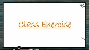 Excretion And Osmoregulation - Class Exercise (Session 2)