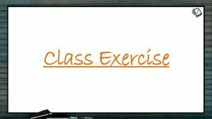 Excretion And Osmoregulation - Class Exercise (Session 3)