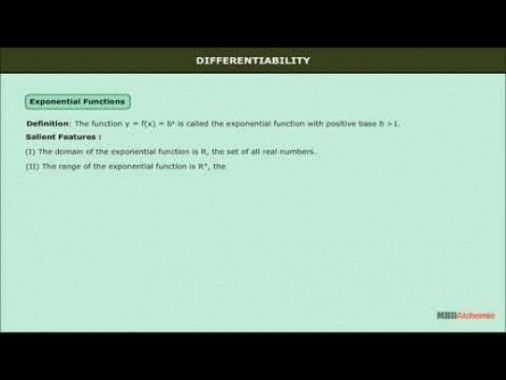 Class 12 Maths - Exponential And Logrithemic Functions Video by MBD Publishers