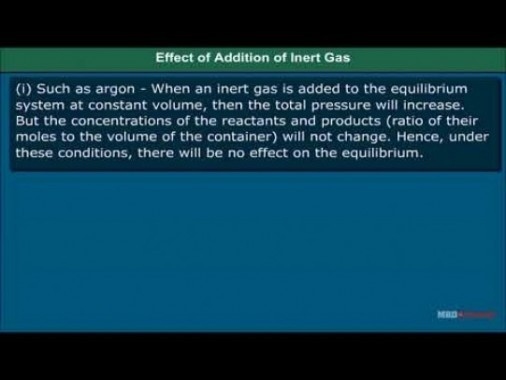 Class 11 Chemistry - Factors Affecting Equilibria Video by MBD Publishers