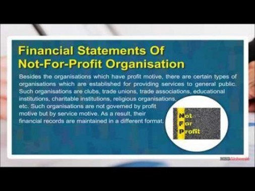 Class 11 Accounts - Financial Statements Of Not For Profit Organisation Video by MBD Publishers