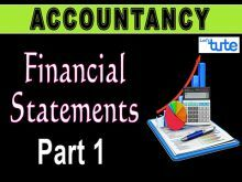 Class 11 Accountancy - Financial Statements Part-I Video by Let's Tute
