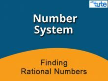 Class 9 Mathematics - Finding Rational Numbers Video by Lets Tute