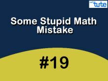 Some Stupid Math Mistake - Fractions With Crossword Video by Lets Tute