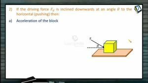 Friction - Driving Force Is Inclined Downwards At An Angle To The Horizontal (Session 4)