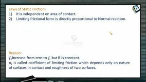 Friction - Laws Of Static Friction (Session 1)