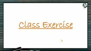 Gaseous State - Class Exercise (Session 4)