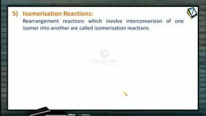 General Organic Chemistry - Isomerisation Reactions (Session 16)