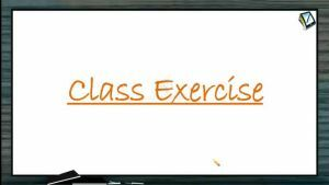 Gravitation - Class Exercise (Session 1)