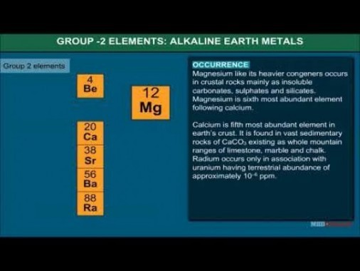 Class 11 Chemistry - Group - II Elements And Their Characteristics Video by MBD Publishers