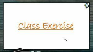 Halogen Compounds - Class Exercise (Session 7 & 8)