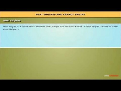 Class 11 Physics - Heat Engines And Carnot Engine Video by MBD Publishers
