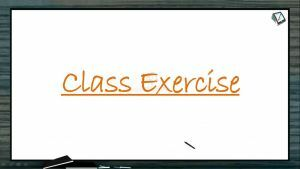 Human Health And Diseases - Class Exercise (Session 2)