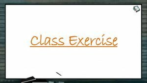 Human Health And Diseases - Class Exercise (Session 8)