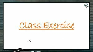 Human Health And Diseases - Class Exercise (Session 9)