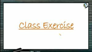 Hydrocarbons - Class Exercise (Session 11 & 12)
