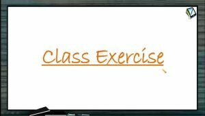Hydrocarbons - Class Exercise (Session 17 & 18)