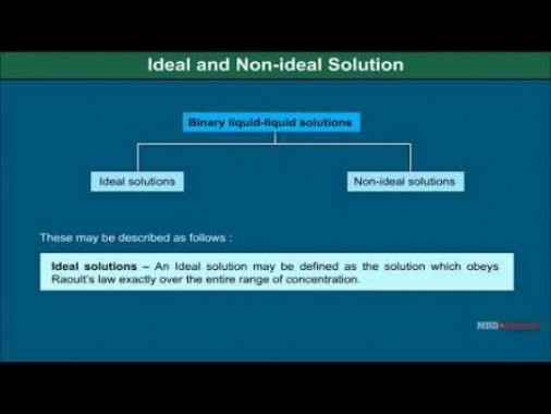 Class 12 Chemistry - Ideal And Non Ideal Solutions Video by MBD Publishers