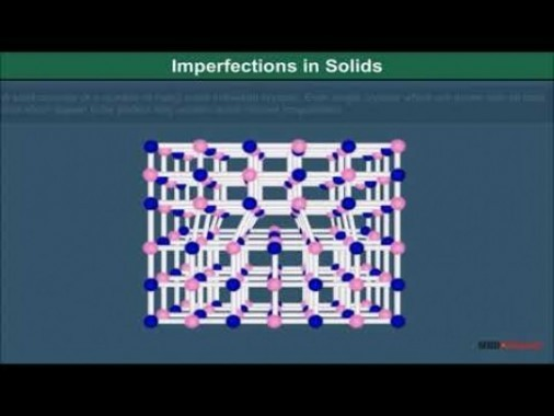 Class 12 Chemistry - Imperfections In Solids Video by MBD Publishers