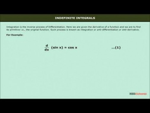 Class 12 Maths - Indefinite Integrals Video by MBD Publishers