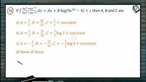 Indefinite Integrals - Class Exercise-II (Session 7 & 8)