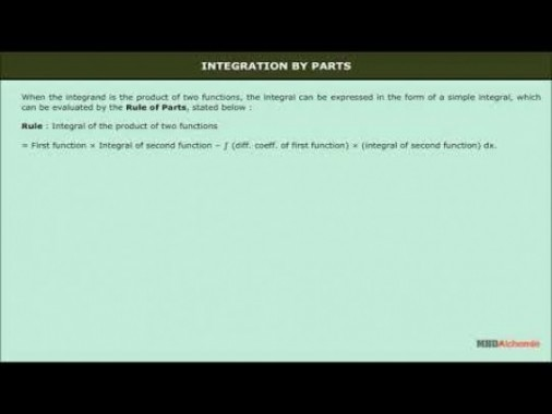 Class 12 Maths - Integration By Parts Video by MBD Publishers