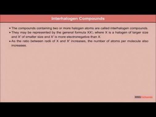 Class 12 Chemistry - Interhalogen Compounds Video by MBD Publishers