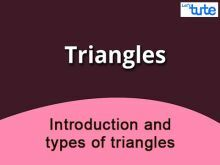 Class 10 Mathematics - Introduction And Types Of Triangles Video by Lets Tute