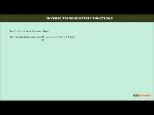 Class 12 Maths - Inverse Trigonometric Functions And Its Properties Video by MBD Publishers