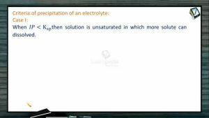 Ionic Equilibrium - Criteria Of Precipitation Of An Electrolyte (Session 10 & 11)