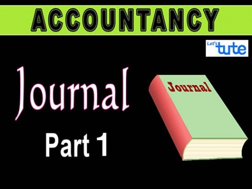Class 11 Accountancy - Journal Part-I Video by Let's Tute