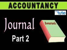 Class 11 Accountancy - Journal Part-II Posting Journal Entries Video by Let's Tute