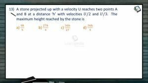 Kinematics - Class Exercise-II (Session 10 11 & 12)