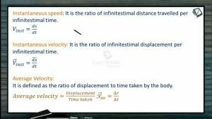 Kinematics - Instantaneous Speed, Instantaneous Velocity And Average Velocity (Session 1 & 2)