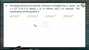 Kinematics - Problems I (Session 3 4 & 5)