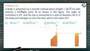 Kinematics - Problems II (Session 13 14 & 15)