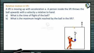 Kinematics - Relative Motion In Lift (Session 20)
