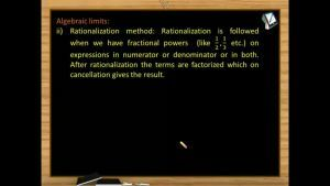 Limits - Limits By Rationalisation (Session 2)