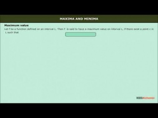 Class 12 Maths - Maxima And Minima Video by MBD Publishers