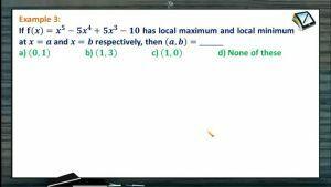 Maxima And Minima - Problems 1 (Session 3)