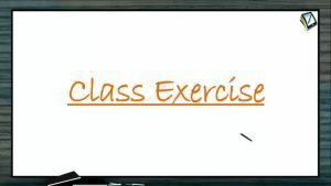 Metallurgy - Class Exercise (Session 1)