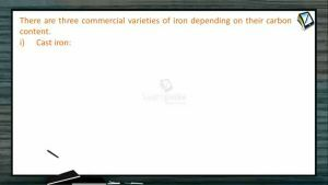 Metallurgy - Commercial Varieties Of Iron (Session 4)