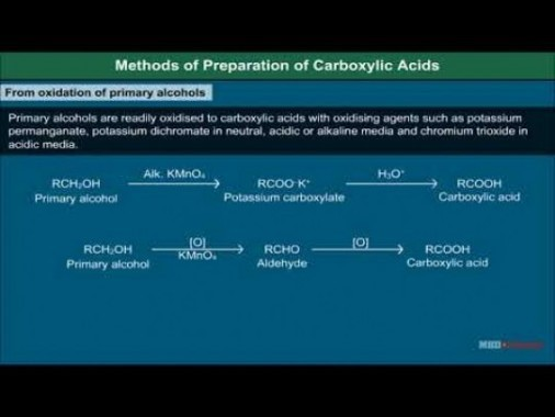 Class 12 Chemistry - Method Of Preparation Of Carboxylic Acids Video by MBD Publishers