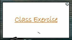 Mineral Nutrition - Class Exercise (Session 3)