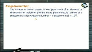 Mole Concept (Basic Concepts of Chemistry) - Avogadro Number (Session 3)