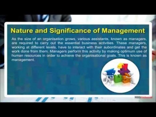 Class 12 Business - Nature And Significance Of Management-I Video by MBD Publishers