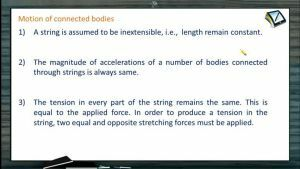 Newtons Law of Motion - Important Points For Motion Of Connected Bodies (Session 4)