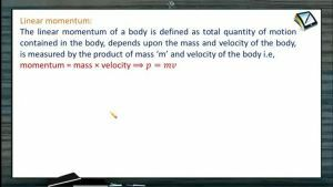 Newtons Law of Motion - Linear Momentum (Session 1)
