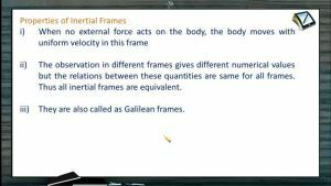 Newtons Law of Motion - Properties Of Inertial Frames (Session 7)