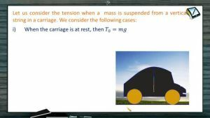 Newtons Law of Motion - Tension Of A Mass Strung In A Moving Body (Session 7)
